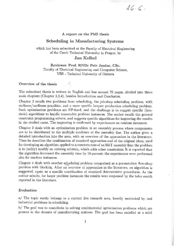 related literature thesis in scheduling system